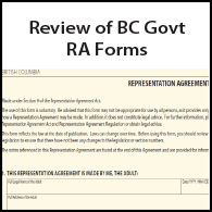 Review of BC Govt RA Forms